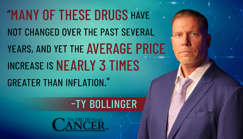 ty bollinger quote on drug price inflation