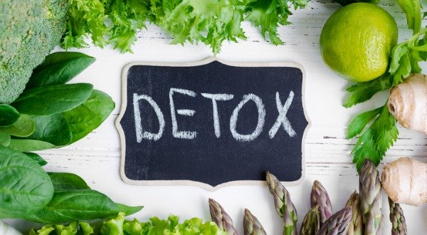 detox with green vegetables