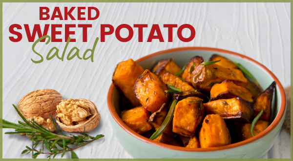 Antioxidant Recipe Baked Sweet Potato Salad