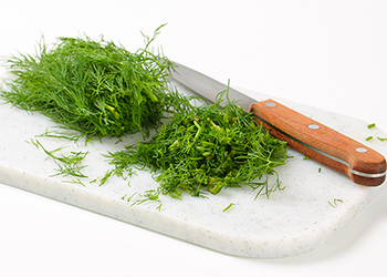 Chopped fresh dill is excellent in many dishes