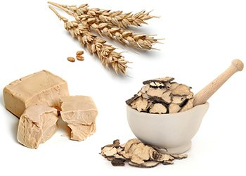 Beta glucans are found in the cell walls of yeast. Oats and mushrooms are also excellent sources of beta glucans