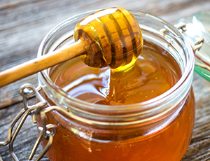 Honey drip in jar