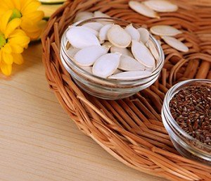 Flaxseeds and pumpkin seeds can help to inhibit aromatase, an estrogen-producing enzyme