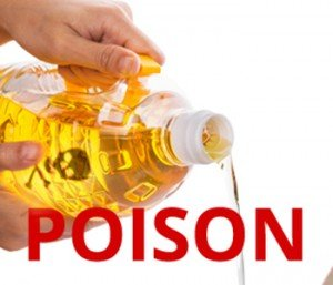 Already harmful vegetable oils (soybean, canola, cottonseed, sunflower, and safflower oils) also often contain GMOs