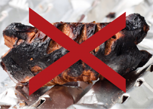 avoid charred food