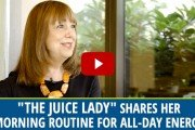 The juice Lady Shares her morning Smoothie mix for all-day energy.