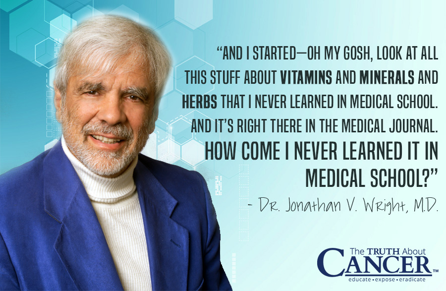 Why Did I Never Learn About How to Treat Disease With Vitamins & Minerals in Medical School? Watch the video interview with Dr. Jonathan V. Wright by clicking on the quote.