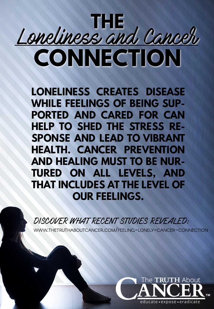 loneliness creates disease while feelings of being supported and cared for can help to shed the stress response and lead to vibrant health.