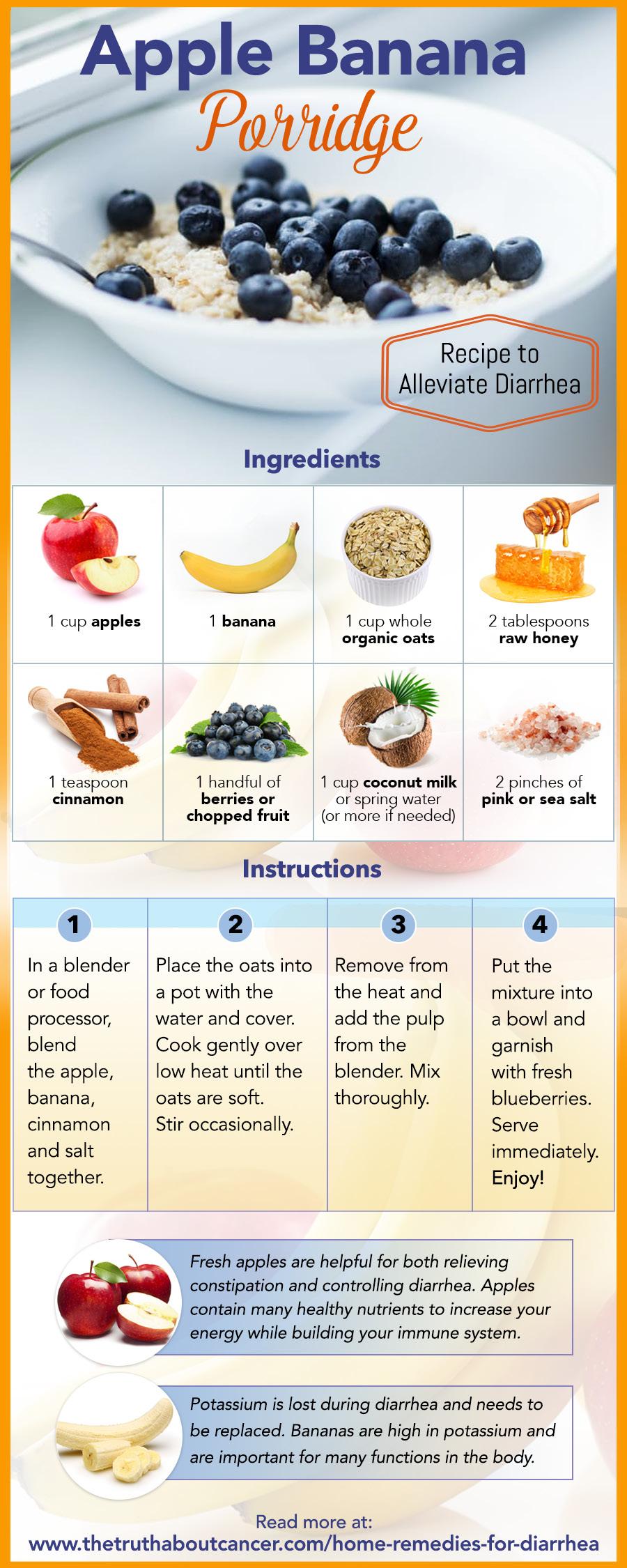 Apple Banana Porridge recipe to alleviate diarrhea