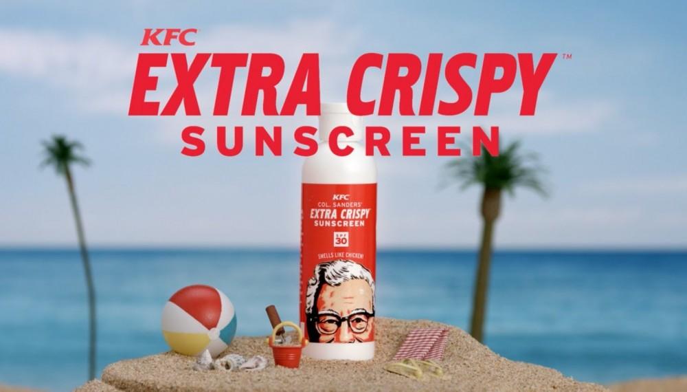 "#7 KFC INTRODUCES ""FRIED CHICKEN"" SUNSCREEN"