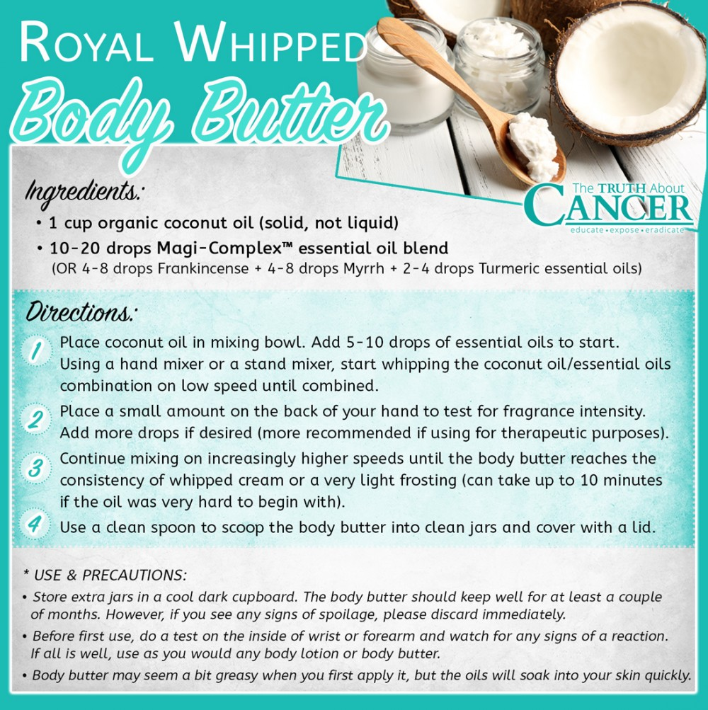 Royal Whipped Body Butter Recipe with Coconut Oil and Essential Oils