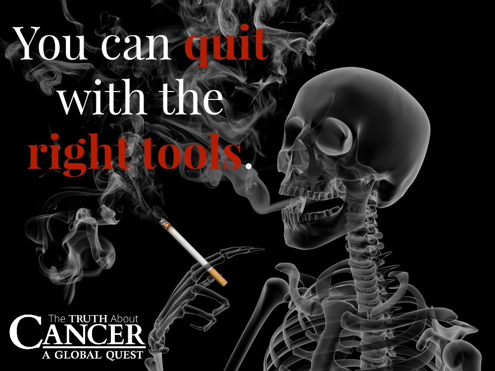 Stop smoking today and cut your cancer risk in half.