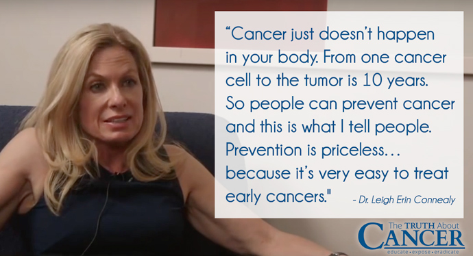 Cancer doesn't just happen. prevention is priceless.