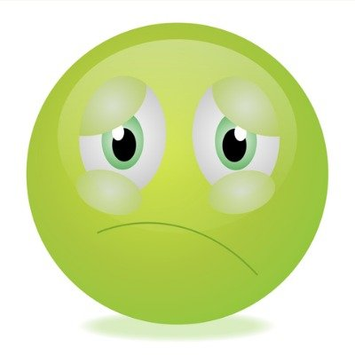 green nausea emoji with keto flu