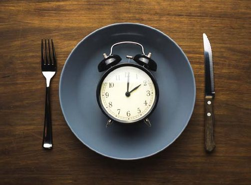 clock on empty plate