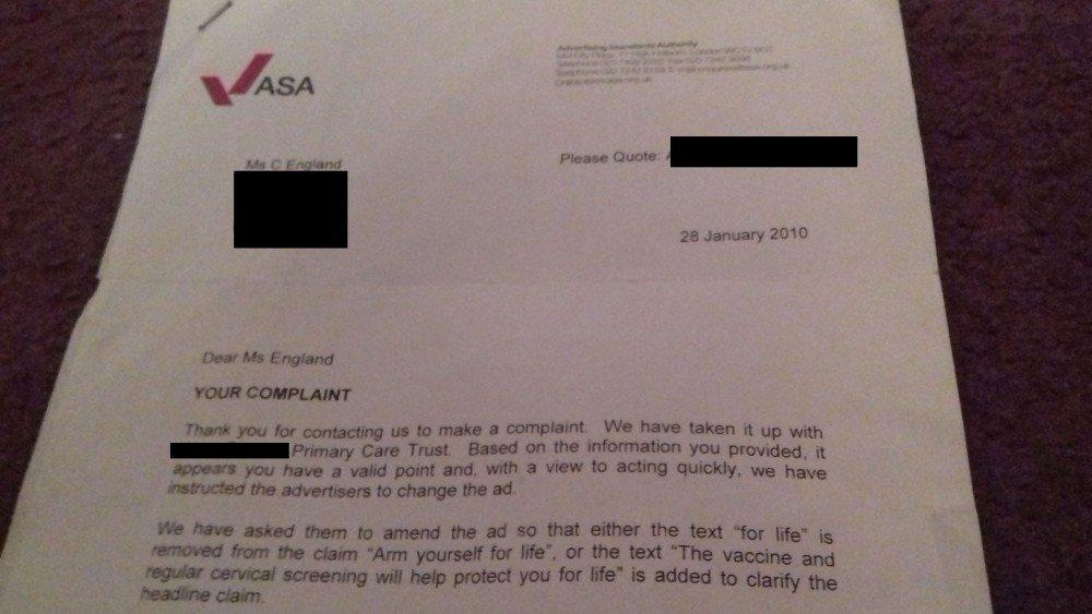 ASA letter