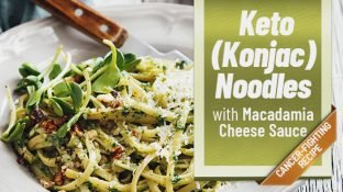 {DELICIOUS Vegetarian Keto Recipe} Konjac Noodles with Macadamia Cheese Sauce