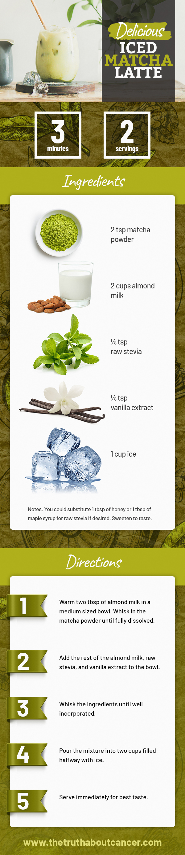 iced matcha green tea recipe