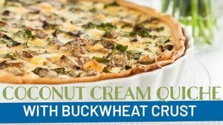 Vegetarian Coconut Cream Quiche with Buckwheat Crust {Recipe}