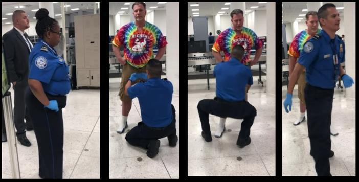 Ty Bollinger Undergoing a TSA Pat Down
