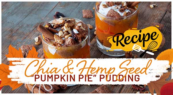"Chia & Hemp Seed "" Pumpkin Pie"" Pudding"