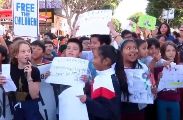 children protesting donald trump