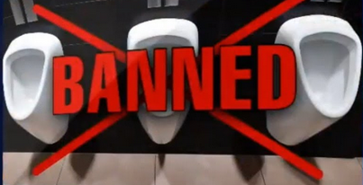 urinals banned