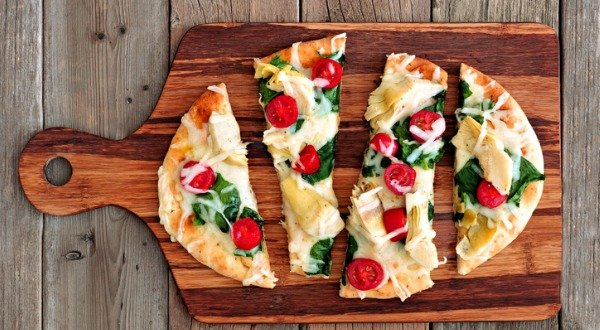 Artichoke and Tomato Flatbread