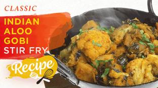 Classic Indian Aloo Gobi Stir Fry {Recipe}