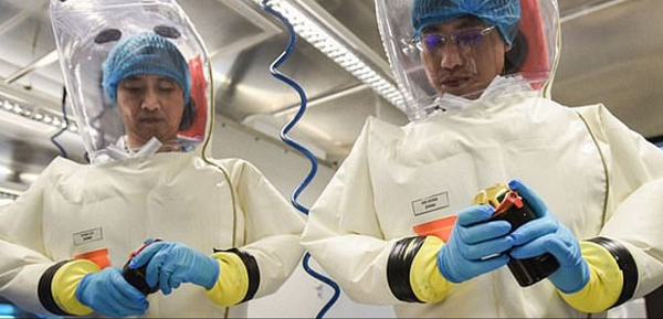 Wuhan Scientists in PPE