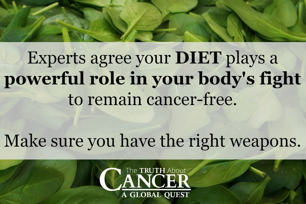 Your Diet plays a powerful role in staying cancer-free.